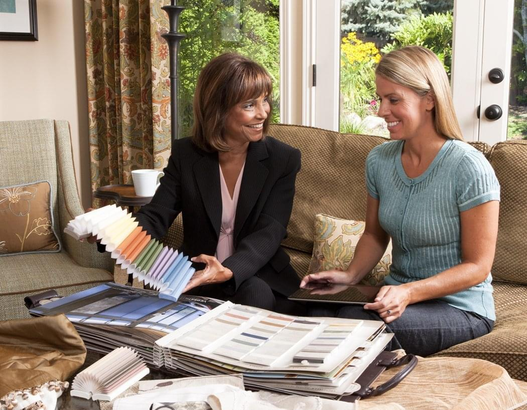Consultation With An Automated Shades Expert As They Choose Fabric Types