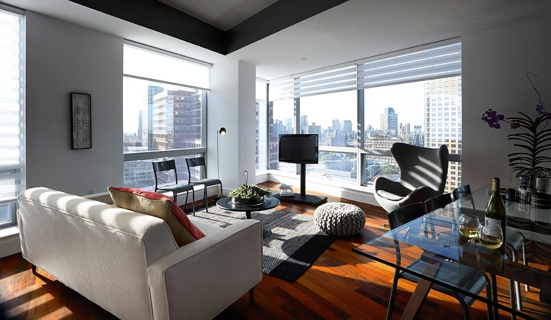 Automated Shades In An Apartment In New York City
