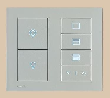 Square Keypad Control To Set Different Moods For Your Ketra Lights And Palladiom Shades